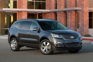 The Chevy Traverse pulls 5,200 lbs of weight - that's mighty impressive for an SUV.