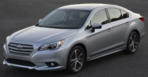 The Subaru Legacy is a sporty mid-sized sedan that pulls a modest 2,700 lbs.