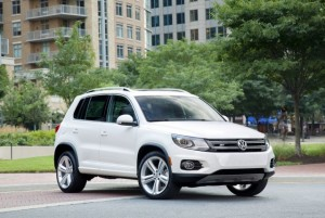 The Volkswagen Tiguan has a towing capacity 2,200 lbs.