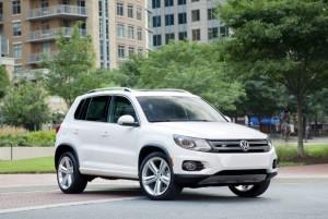 The Volkswagen Tiguan has a towing capacity 2,200 lbs.