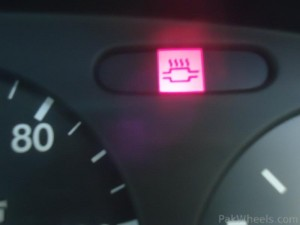Catalytic converter warning