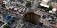 Not technically a sinkhole, this collapse in Guatemala City formed as a result of erosion.