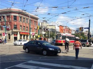 Driving through intersections can prove dangerous when cyclists and drivers cross paths.
