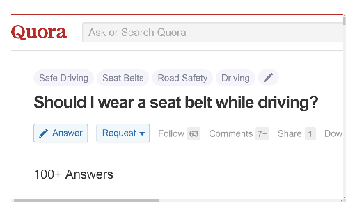 Should I wear a seatbelt while driving
