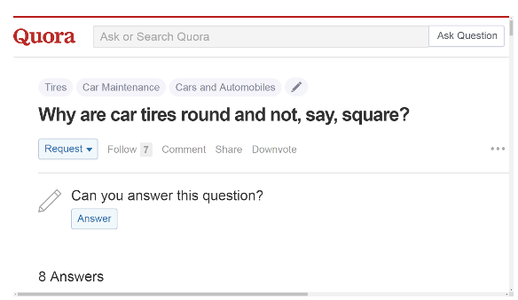 Why are car tires round and not, say, square?
