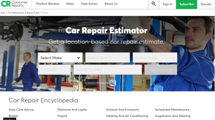 This car repair estimator can help you determine the cost of your car maintenance.