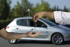 Man buying used car financing in toronto
