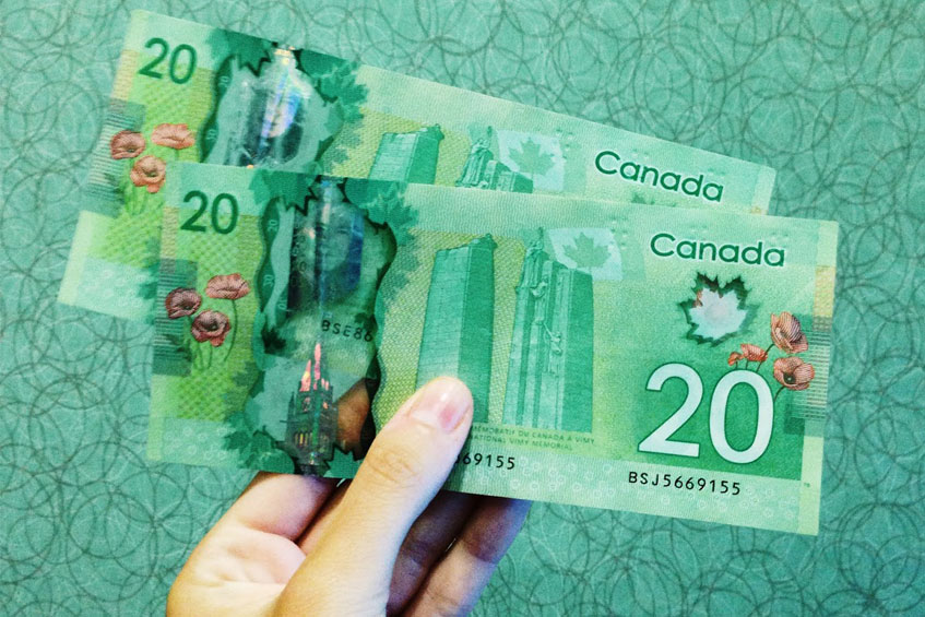 Two Canadian notes.